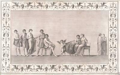 [Titusthermen. Ares (Mars) und Aphrodite werden von Hephaistos (Vulcanus) überrascht] (vom Bearbeiter vergebener Titel)