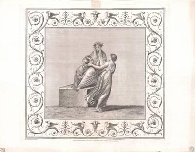 [Titusthermen. Thronende Figur mit Frau und Säugling] (vom Bearbeiter vergebener Titel)