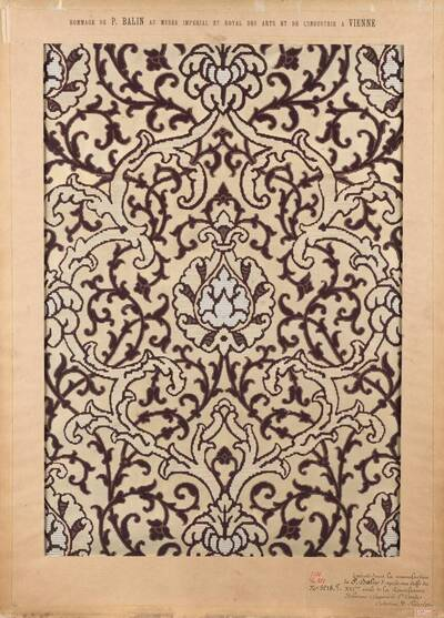 Stilkopie eines Stoffes der italiensichen Renaissance des 16. Jahrhunderts (vom Bearbeiter vergebener Titel)