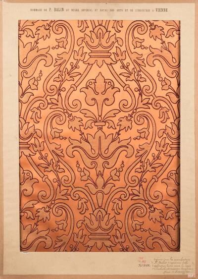 Stilkopie einer Applikationsstickerei der englischen Renaissance; Epoche Elisabeth I. (vom Bearbeiter vergebener Titel)