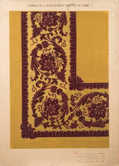 Stilkopie nach Motiven des 17. Jahrhunderts; Bordüre (vom Bearbeiter vergebener Titel)