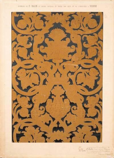 Stilkopie einer portugiesischen Ledertapete der Renaissance (vom Bearbeiter vergebener Titel)