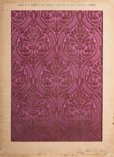 Stilkopie eines Stoffes aus dem Mittelalter (vom Bearbeiter vergebener Titel)