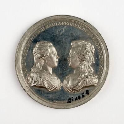 Medaille auf die Reise des Großfürsten Paul von Rußland mit seiner Gemahlin Sophie von Württemberg durch Europa mit Stationen in Wien