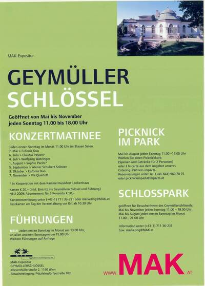 MAK-Expositur Geymüllerschlössel (Kurztitel)