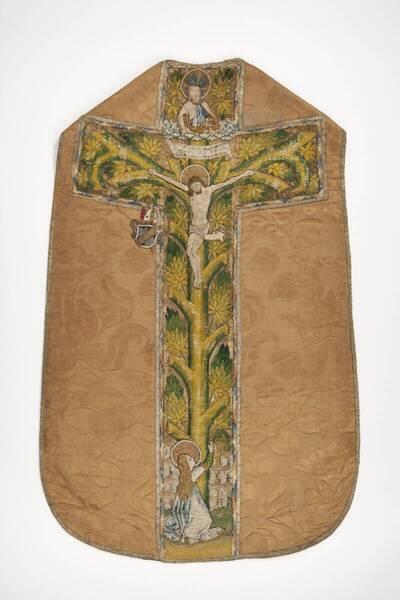 Rückseite Kreuz Christi als Lebensbaum; Vorderseite Anbetung Christi und Beschneidung; Bischöfliches Wappen (deskriptiver Titel)