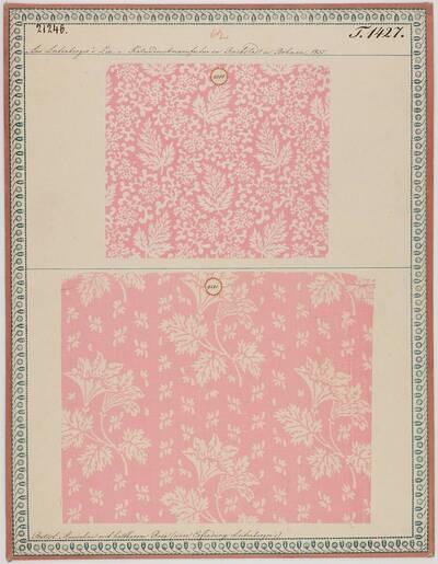 Gedruckte Batist-Musseline mit haltbarem Rosa (historische Bezeichnung)