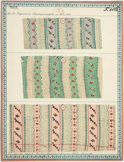 Gedruckte glatte Schafwoll-Musseline (Mousselines de laine) aus Schaf- und Baumwolle (Originaltitel)