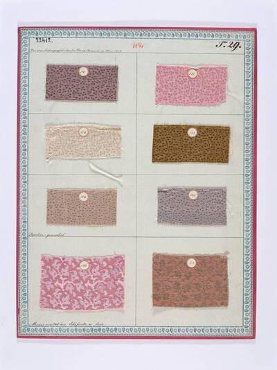 Papeline, gemustert; Merinos oriental aus Schafwolle und Seide (Originaltitel)