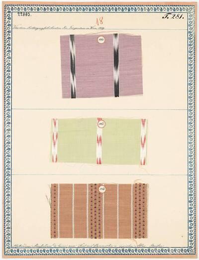 Halbseidene Mousselines de laine, zum Theil mit flammirten und irisirten Atlas-Streifen (Originaltitel)