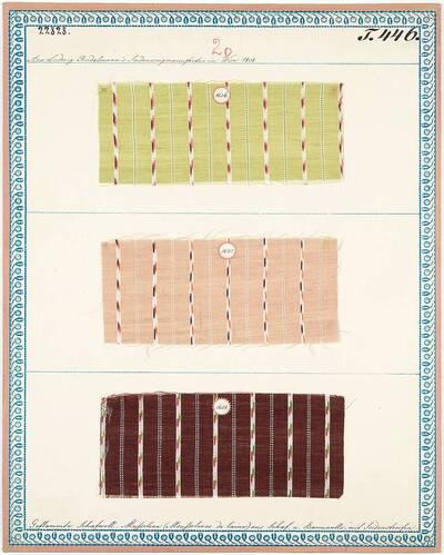 Geflammte Schafwoll-Musseline (Musselines de laine) aus Schaf- und Baumwolle, mit Seidenstreifen (Originaltitel)