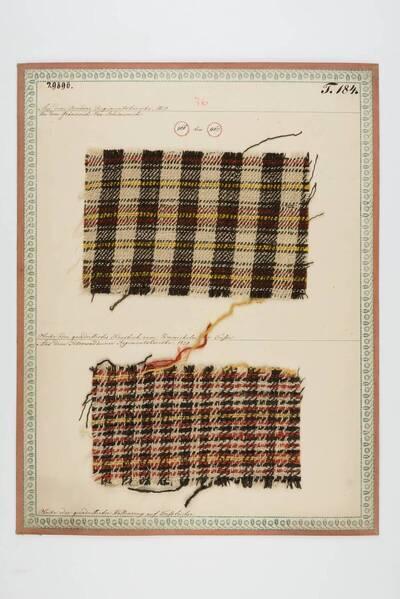 Oboike / quadrilliertes Haustuch um Umwickeln der Füße (historische Bezeichnung)