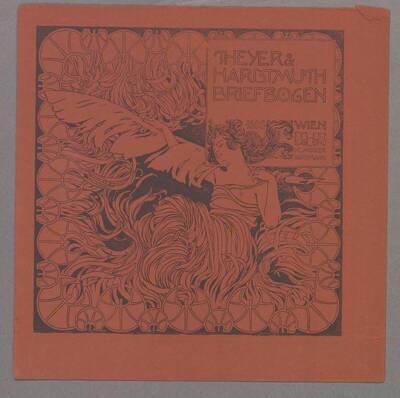 Deckblatt oder Annonce für Briefpapier von Theyer & Hardtmuth
