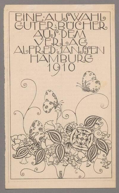 Werbeanzeige für den Verlag Alfred Janssen