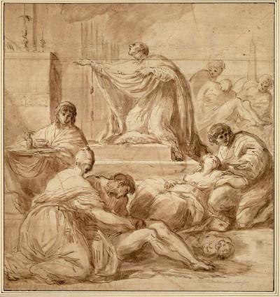 Der hl. Karl Borromäus bittet Gott um das Ende der Pest in Mailand