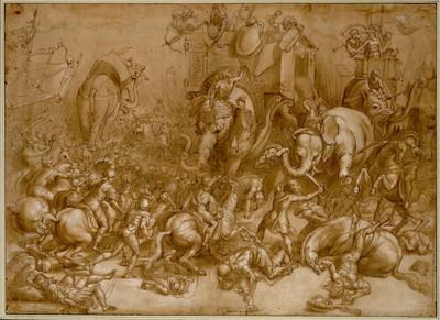 Die Schlacht zwischen Scipio und Hannibal bei Zama