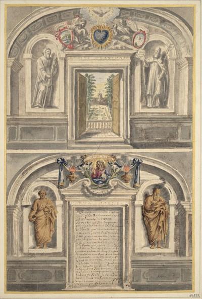Zeichnung nach einer Porta Coeli