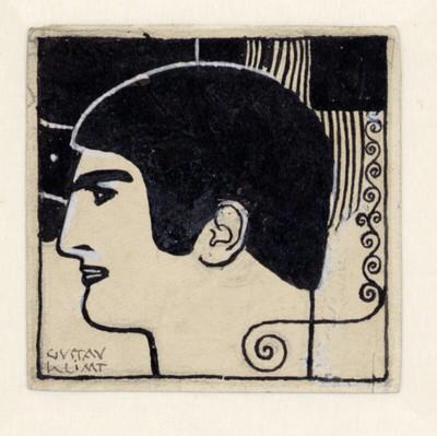 Reinzeichnung eines Männerkopfes im Profil (Illustration für