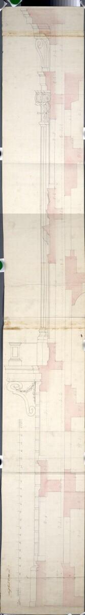 Wien I, Hofburg, Reichskanzleitrakt, Vergleich zwischen den Fassadenprofilen des Reichskanzleitraktes und des Leopoldinischen Traktes
