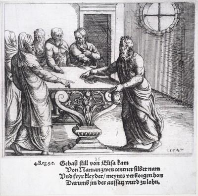 Judas empfängt Geld von den Hohenpriestern