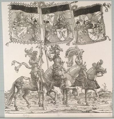 Triumphzug Kaiser Maximilians I.: Banner von Kyburg, Ferrette und Görz