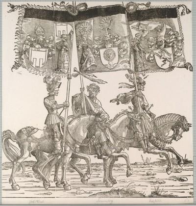 Triumphzug Kaiser Maximilians I.: Banner von Feldkirch, Sunnenberg und Glaris