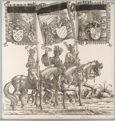 Triumphzug Kaiser Maximilians I.: Banner von Achalm, Echingen und Ortenburg