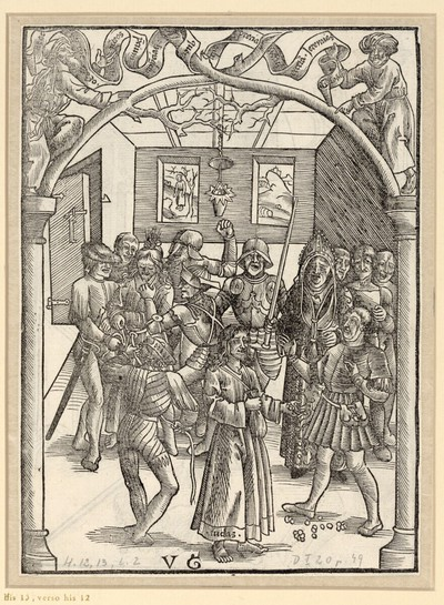 Die Verspottung Christi, Judas will den Hohenpriestern das Geld zurückgeben
