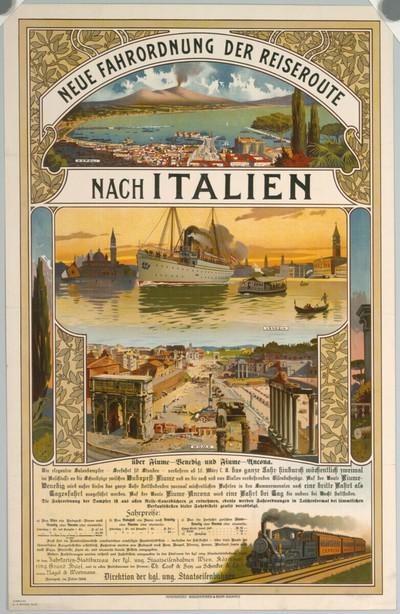 NEUE FAHRORDNUNG DER REISEROUTE NACH ITALIEN