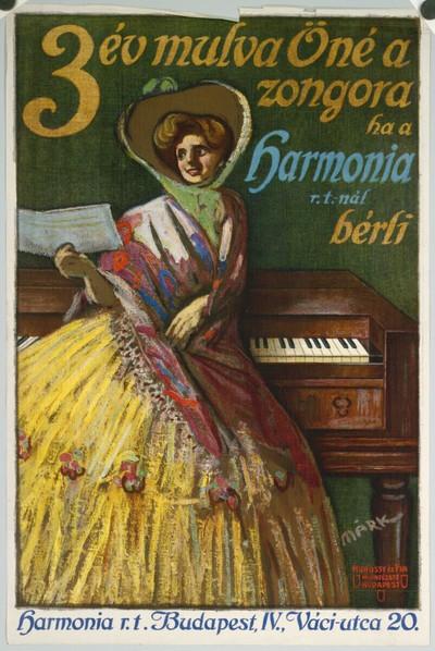 3 év mulva Öné a zongora ha a Harmonia r.t.-nél bérli Budapest