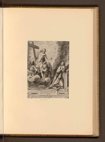 Christus mit dem Kreuz und dem Jesuit Ledesma