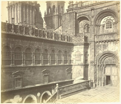 Santiago de Compostela: The Plaza de los Plateros: the Siversmiths'Square.