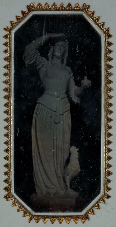 Die Figur der Wachsamkeit von Hans Gasser für das Hentzi-Denkmal in Budapest 1851