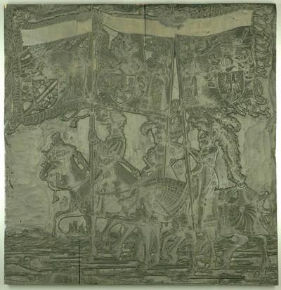 Triumphzug Kaiser Maximilians I.: Banner von Tirol, Habsburg und Elsaß