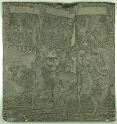 Triumphzug Kaiser Maximilians I.: Banner von Cilli, Burgau und vom Land ob der Enns