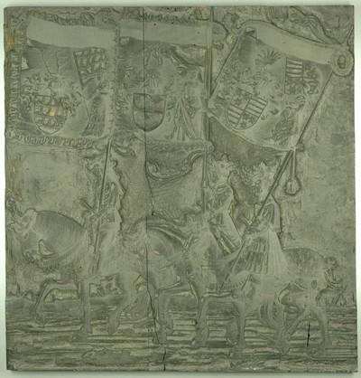 Triumphzug Kaiser Maximilians I.: Banner von Säckingen, Hohenberg und Nellenburg