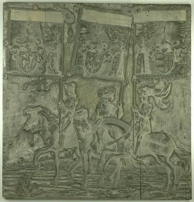 Triumphzug Kaiser Maximilians I.: Banner von Friaul, Andechs und Toggenburg