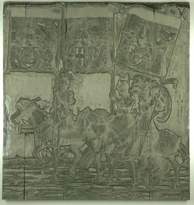 Triumphzug Kaiser Maximilians I.: Banner von Lieben, Acht Gericht und Reineck