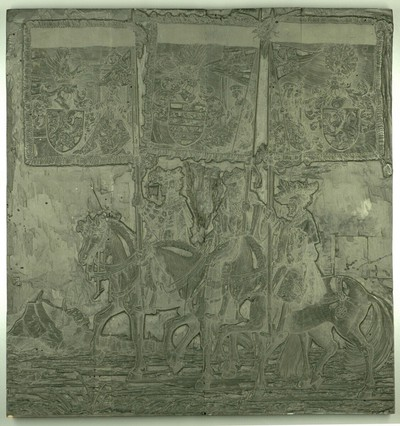 Triumphzug Kaiser Maximilians I.: Banner von Geldern, Luxemburg und Limburg