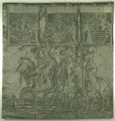 Triumphzug Kaiser Maximilians I.: Banner von Aussone, Arcus und Ostrevant