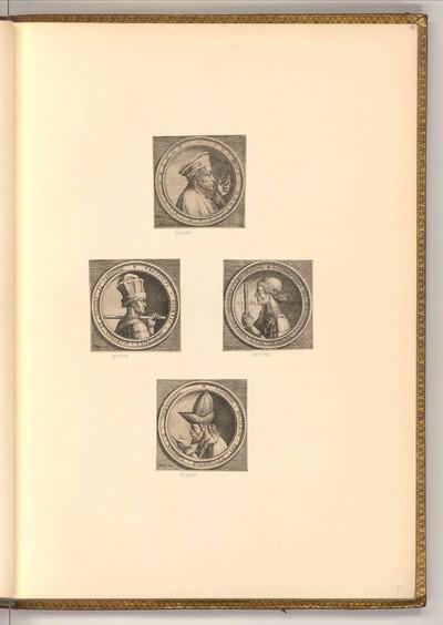 Serie von vier Porträts nach italienischen Medaillen der Renaissance