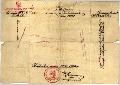 Kopia mapy katastralnej z 1923 r.