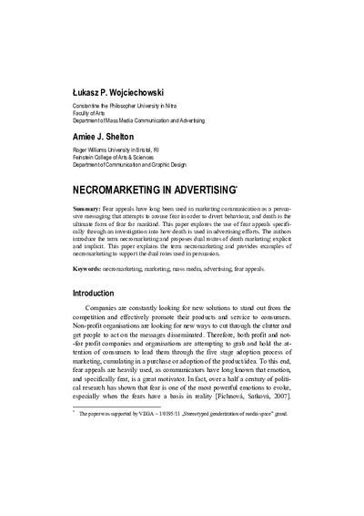 Necromarketing in Advertising