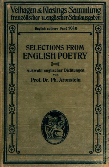 Selections from English poetry : Auswahl englischer Dichtungen