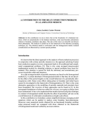 A contribution to the heat conduction problem in a laminated medium