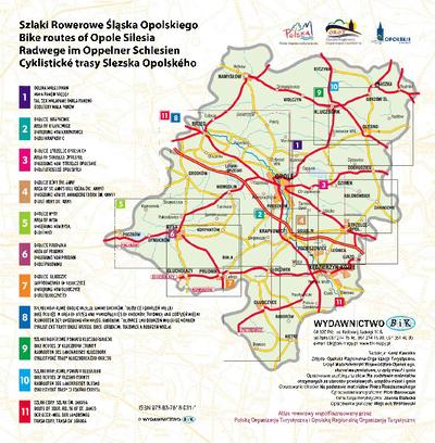 Szlaki rowerowe Śląska Opolskiego : [atlas rowerowy].