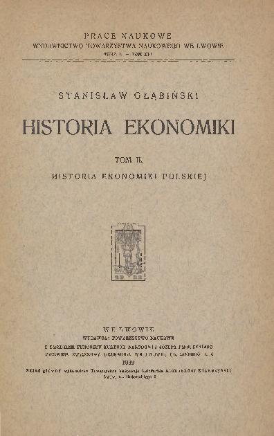 Historia ekonomiki. T. 2, Historia ekonomiki polskiej