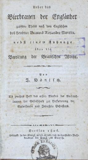 Verhandlungen der Gesellschaft zur Beförderung der Naturkunde und Industrie Schlesiens, 1806, Bd. 1, H. 2