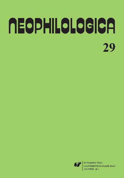 Neophilologica. Vol. 29