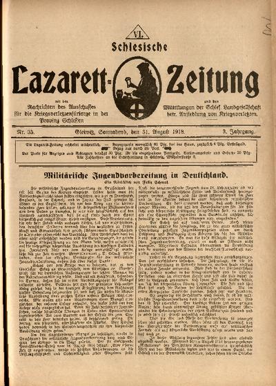 Schlesische Lazarett-Zeitung, 1918, Jg. 3, Nr. 35